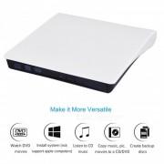 Miimall unidad externa portatil CD-RW DVD-R combo quemador jugador-blanco