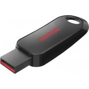 SanDisk USB 2.0 Flash Drive Cruzer Snap 128 GB Black, Red