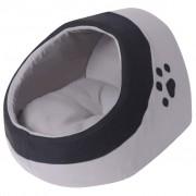 vidaXL Ninho para gato cinzento e preto XL