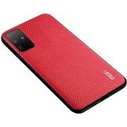MoFi Litchi PU Leather Case Samsung Galaxy S20 Ultra 5G, piros