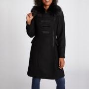 Manteau long fermeture zippée, mi-saison