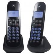 Telefone Sem Fio Com Identificador de Chamada Viva Voz +1 Ramal MOTO750-MRD2 Preto - Motorola