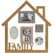 Innova Cadre multivues Family 5 photos effet bois