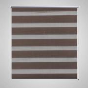 vidaXL Zebra Blind 60 x 120 cm Coffee