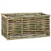 vidaXL Jardinieră de grădină înaltă, 80 x 40 x 40 cm, lemn de alun