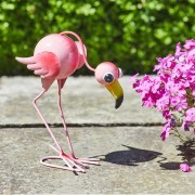 Kerti dekorációs flamingó figura 25 cm – Flamingo Fun