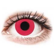 CRAZY LENS - Solid Red - Tageslinsen mit Stärke
