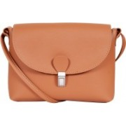 Lino Perros Women Casual Tan Leatherette Sling Bag