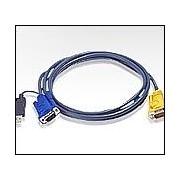 ATEN 2L-5202UP :: KVM кабел, HD15 M + USB type A M >> SPHD15 M, 1.8 м