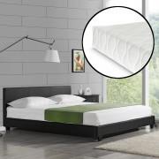 """Corium® Čalouněná postel """"Barcelona"""" HTB-1006 s matrací 160x200 cm černá"""