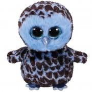 Merkloos Pluche knuffel uil blauw 15 cm