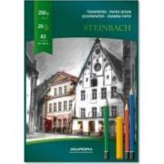 Bloc desen A3 20 file - 250g-mp AURORA Steinbach - carton alb