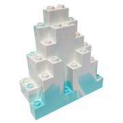 Lego Parts: Rock Panel Triangular (Lurp) (Aqua White Marbled Snow Pattern)