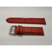 SZ2250 22mm piros színű valódi bőrszíj