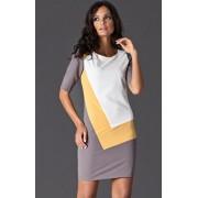 Sukienka M118 (beżowo-żółty)