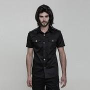Punk Rave Digimortal Short Sleeved Shirt Black OY-860CDM