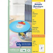 Avery Etiket Avery L6043 100 Cd Wit 200stuks