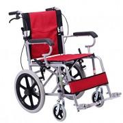 Folding Wheelchair Elderly Lightweight Manual Wheelchair Travel Portable Wheelchair Child Wheelchair (Color : Red)