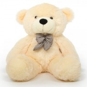 stuffed toy 4 feet soft and cute teddy bear-Cream