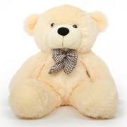 stuffed toy 4 feet soft and cute teddy bear-Cream