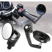 Motorcycle Rear View Mirrors Handlebar Bar End Mirrors ROUND FOR BAJAJ PULSAR 180 DTS -i