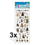 Geen 3x Kinder stickers honden