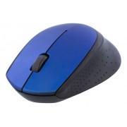 Deltaco trådlös optisk mus, 2.4GHz, USB nano-mottagare, blå