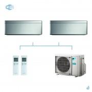 DAIKIN climatisation bi split mural gaz R32 Stylish Silver FTXA-AS 5kW WiFi FTXA20AS + FTXA20AS + 2MXM50M9 A+++