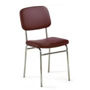 Mayer Sitzmöbel Stuhl CLASSIC LINE chrom weinrot - Mayer