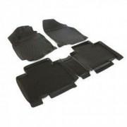 Set covorase profesionale cauciuc culoare negru stil tavita dedicate TOYOTA RAV 4 IV dupa anul 2012