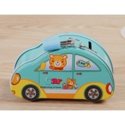 Imported And New Fairyland Creative Cute Mini Blue Car Piggy Bank With Lock Plate Box