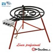 Paellero profesional de gas con termopar de Garcima 90 cm / 3 fuegos, Gas butano/propano