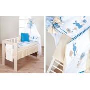 Set lenjerie 4 piese Little Bunny bej-blue