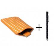 Polka Dot Hoesje voor Huawei Ascend G630 met gratis Polka Dot Stylus, Oranje, merk i12Cover