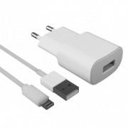 Contact Cargador de Red USB 2.1A + Cable Lightning Blanco