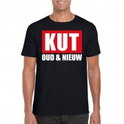 Shoppartners Foute oud en nieuw t-shirt kut oud en nieuw zwart voor heren