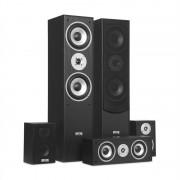 Auna surround кутии високоговорители, комплект, домашно кино, 335 W, RMS, цвят черен (JO2-E1004-SET-BL)