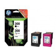 HP Pack de ahorro de 2 cartuchos de tinta Original HP 300 Negro, Tricolor para HP DeskJet, HP Photosmart, HP ENVY