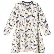 Hust & Claire Hust & Claire White Dotte Dog Print Dress 92 cm (1,5-2 Years)