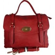 Dazzle Men Maroon Hand-held Bag