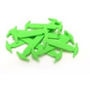 Koollace GREEN ADULT No Tie Shoe Lace(Green Set of 12)