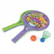Toyrific badmintonset paars/groen 43 cm 4-delig