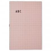 Design Letters Anslagstavla A3, Pink
