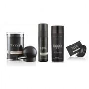 Toppikk Hair Building Fibres 27.5g Black with Hairline Optimiser Comb Applicator Pump and Fiber Hold Spray 118ml!!
