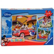 PUZZLE CLUBUL MICKEY MOUSE , 3X49 PIESE (RVSPC09247)