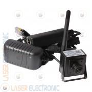 Mini Telecamera Wireless IP WiFi FishEye Grandangolo 170° Full HD 1080P QR Code Onvif P2P + RJ45 PoE