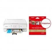MFP, CANON PIXMA TS6151, AIO, InkJet, Duplex, WiFi + подарък пакет фото-хартия (2229C026AA)
