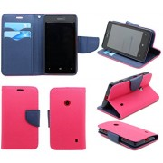 Mercury synthetic leather Wallet Magnet Design Flip Case Cover for Samsung Galaxy Grand i9082 - Pink Blue