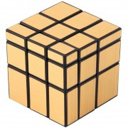 ER Nuevo 3 X 3 X 3 Cubo Mágico Puzzle Regla Espejo Inteligencia Juego De Juguetes Para Niños Oro.