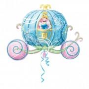 Balon folie figurina caleasca cenusaresei, 83x58 cm, 26463